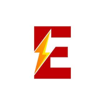 Buchstabe e energie logo