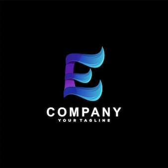 Buchstabe e farbverlauf logo design