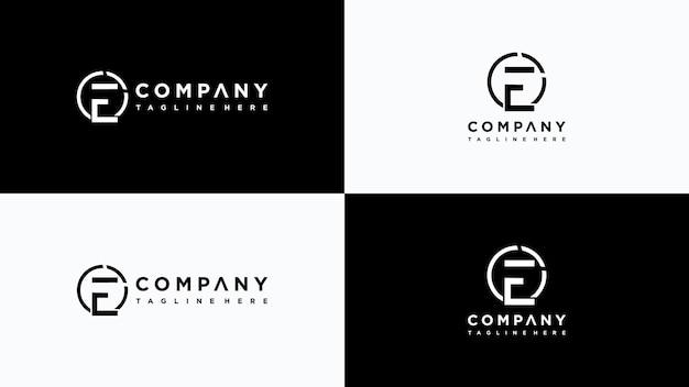 Buchstabe e logo design premium-vektor
