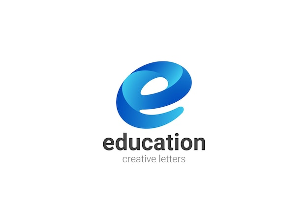 Buchstabe e logo design