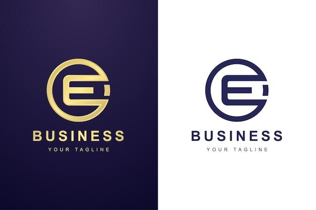 Buchstabe e-logo mit kreisformkonzept