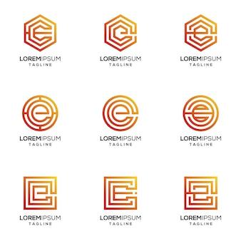Buchstabe e-logo