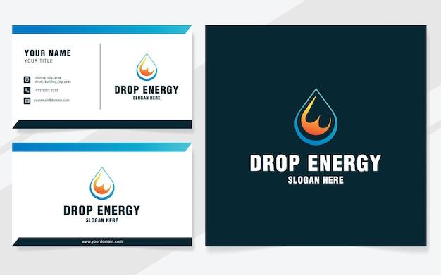 Buchstabe e mit tropfenenergie-logo-vorlage im modernen stil