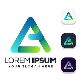 Buchstabe ein logo-design