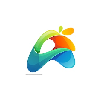 Buchstabe ein logo-vektor