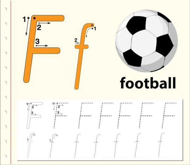 Buchstabe f bei der suche nach alphabet-arbeitsblättern