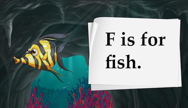 Buchstabe f ist für fisch