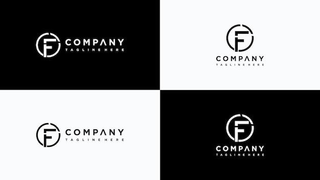Buchstabe f logo design premium-vektor
