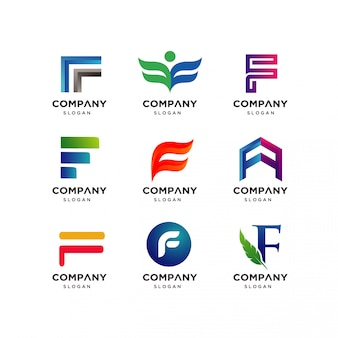 Buchstabe f logo design-vorlage