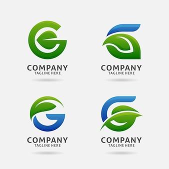 Buchstabe g blatt logo design
