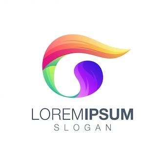 Buchstabe g farbverlauf logo-design