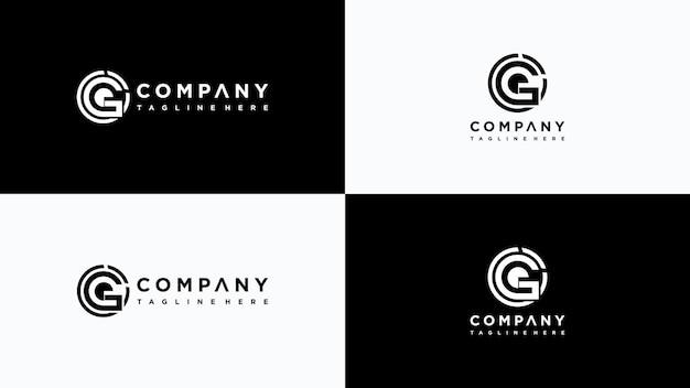 Buchstabe g logo design premium-vektor