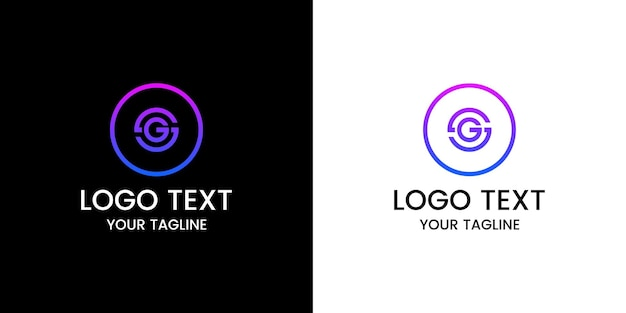 Buchstabe g logo-design-vektor