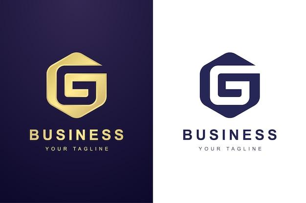 Buchstabe g-logo mit sechseck-formkonzept
