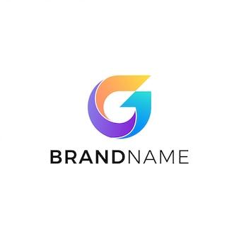 Buchstabe g logo vector in lokalisiertem weißem hintergrund