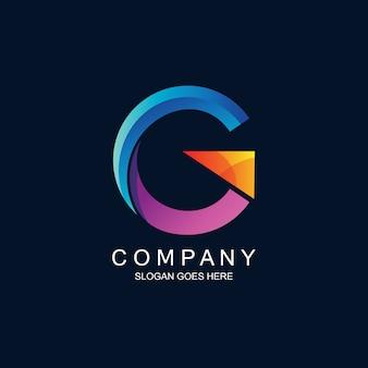 Buchstabe g modernes logo in
