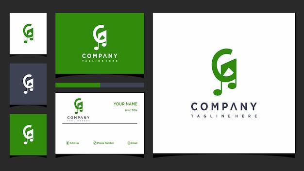 Buchstabe g musik logo design vektor premium-vektor
