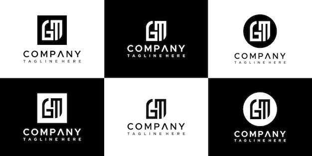 Buchstabe gm logo designvorlage