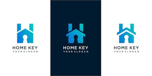 Buchstabe h home-taste einfaches logo-icon-set