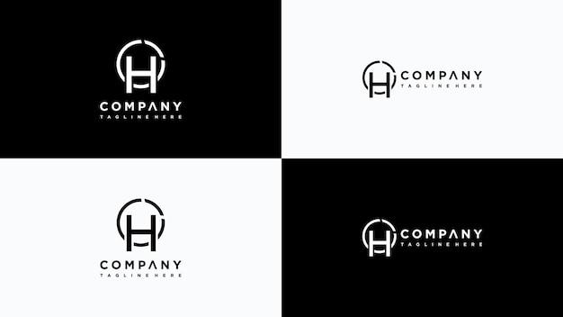 Buchstabe h logo design premium-vektor