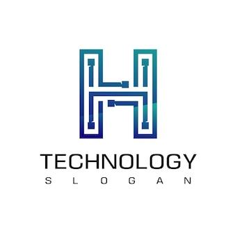 Buchstabe h technologie-schaltungslogo