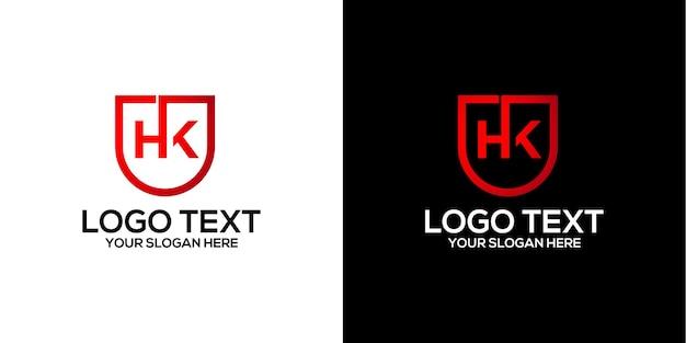 Buchstabe hk logo design vektor premium-vektor