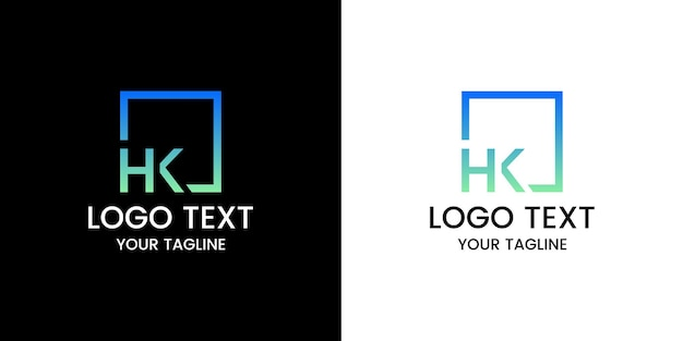 Buchstabe hk logo-design-vektor