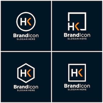 Buchstabe hk logo design