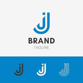 Buchstabe j linie logo