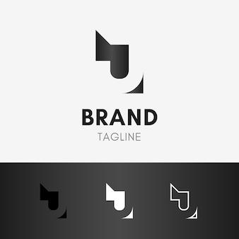 Buchstabe j negatives raum-logo