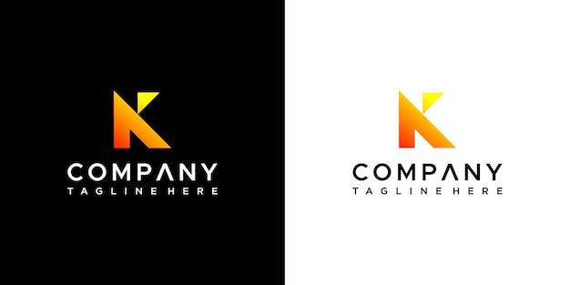 Buchstabe k logo-design-vektor