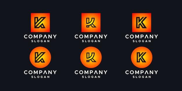 Buchstabe k logo designvorlage