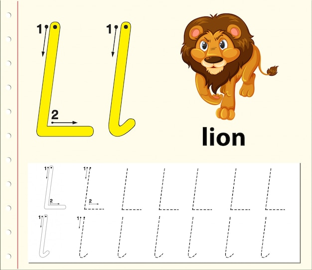 Buchstabe l alphabet arbeitsblätter verfolgen