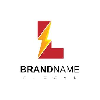 Buchstabe l energie logo Premium Vektoren