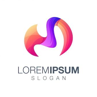 Buchstabe m farbverlauf logo