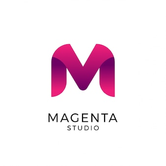 Buchstabe m logo, logo vorlage