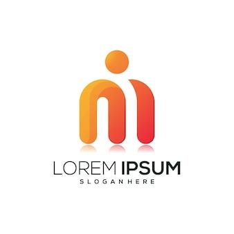 Buchstabe m-logo-symbol
