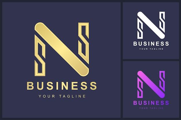 Buchstabe n-logo mit abstraktem konzept