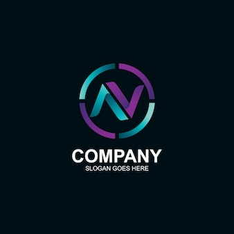 Buchstabe n logo