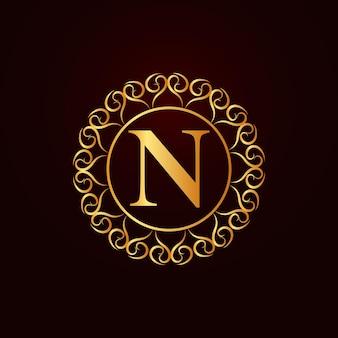 Buchstabe n luxusmarke logo konzept design vektor
