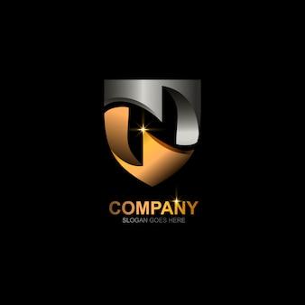 Buchstabe n schild logo