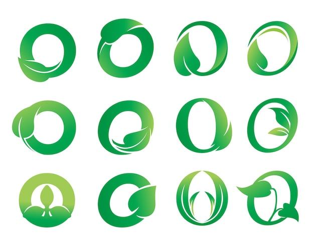 Buchstabe o blatt-logo-design