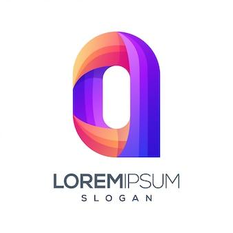 Buchstabe o farbverlauf logo-design