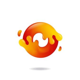 Buchstabe o flüssiges logo