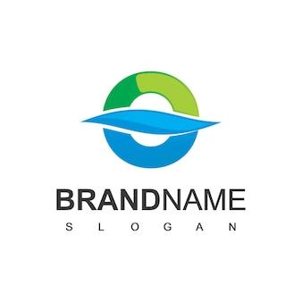 Buchstabe o logo für sauberes wasser