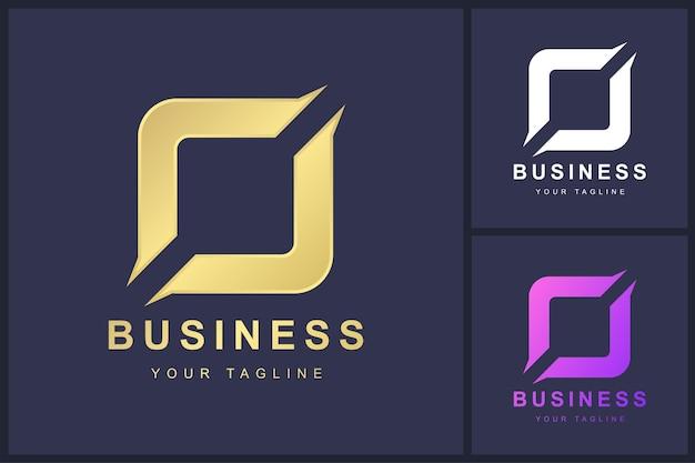 Buchstabe o-logo mit geschnittenem konzept
