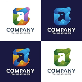 Buchstabe o logo mit optionsfarbe.
