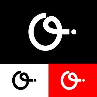 Buchstabe o und i logo minimalistisch, elegant und trendy