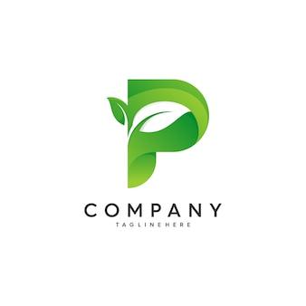 Buchstabe p logo design-konzept