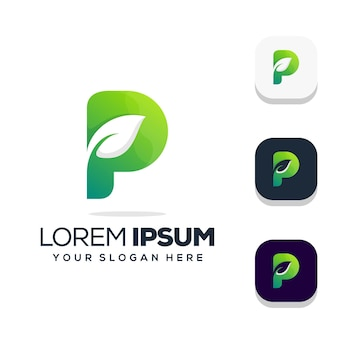 Buchstabe p logo design